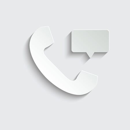 call icon. line style icon.  black vector symbol of  telephone receiver