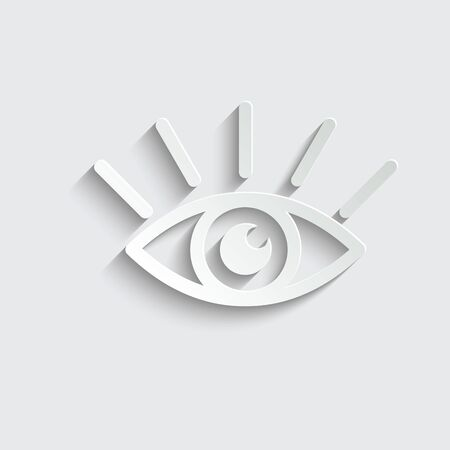 view icon. eye retina scan symbol. Recognition and authentication icon. Black vector Ilustracja