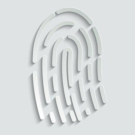 Fingerprint icon vector  illustration isolated on white background Çizim