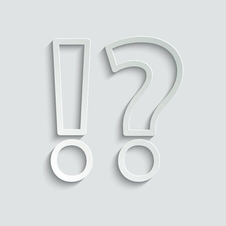 Question icon and exclamation point icon. Vector icon for website design, app. Stock Illustratie