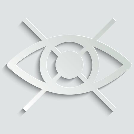 no Eye icon. avoid eye contact. Prohibition forbidden symbol. Do not spy, watch. not visible sign. Do not use for eyes.  Vector icon for apps and websites.