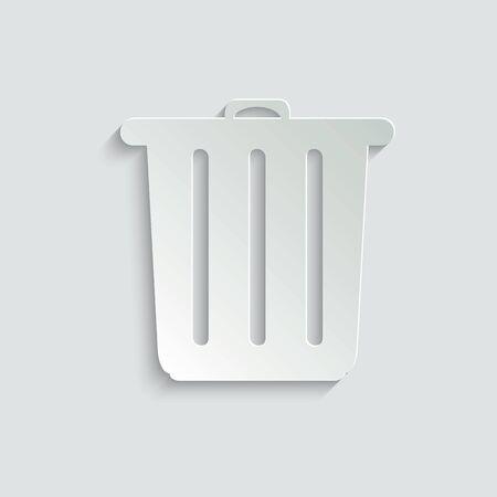 Trash bin   - vector icon