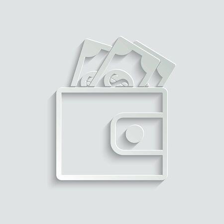 Wallet - vector icon
