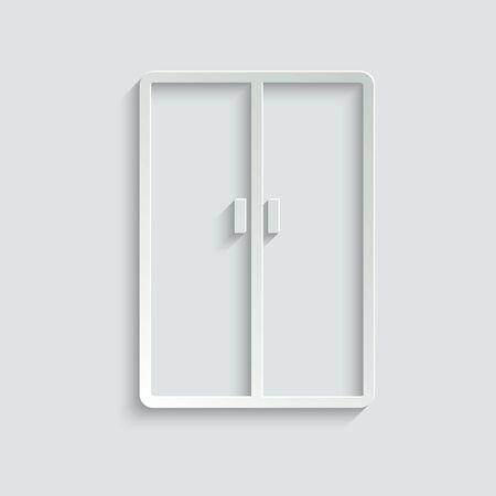 wardrobe icon. line style icon Ilustração