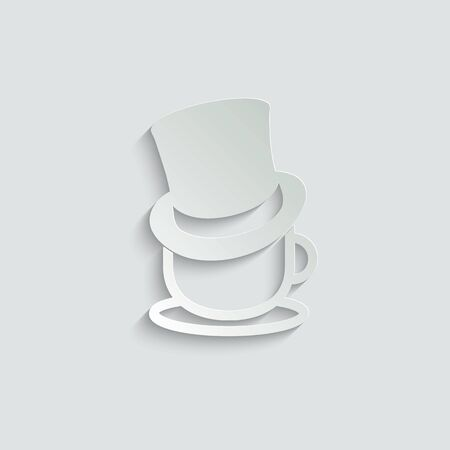 coffee icon. Cup of coffee  icon with hat. For cafe or restaurant Ilustração