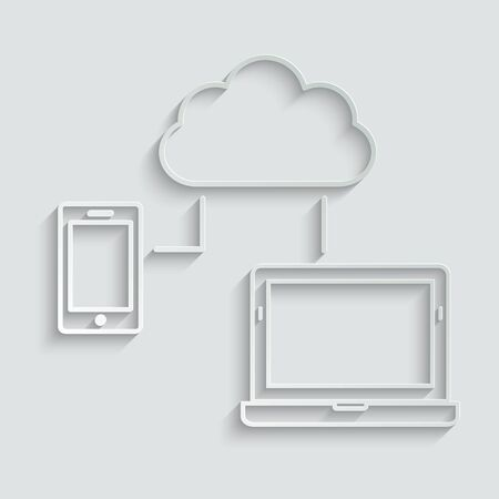 cloud connection icon. smart devices icon