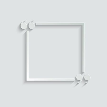 quotes icon. quotes with frame