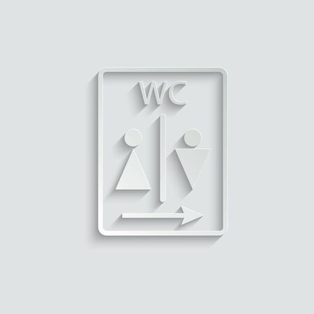 wc icon. Toilet and restroom icon. Man and woman icon