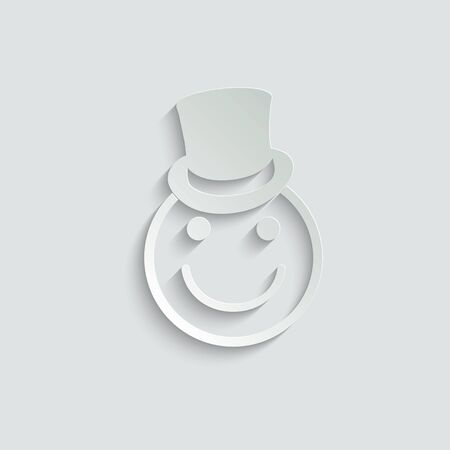 smile icon/ Happy face/ line style icon/ black vector symbol of smile. smile icon with hat. logo for company