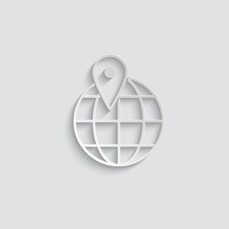 map point icon. global  icon. your destination icon vector Ilustração
