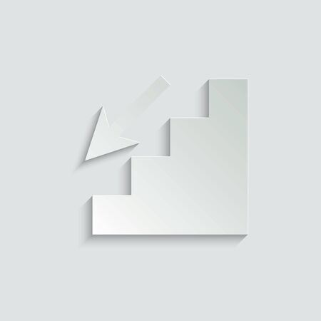 stairs vector icon Vettoriali