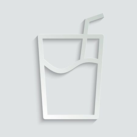 glass  icon vector Illustration
