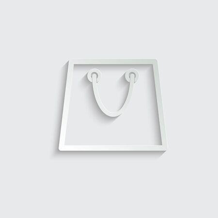 shopping bag icon line design Ilustração