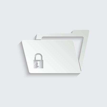 File Folder - vector icon