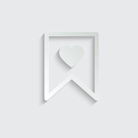 Favorite bookmark icon, vector illustration. Favourite symbol Ilustração