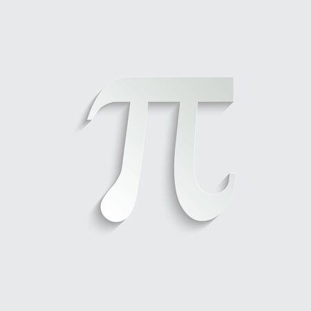 Pi icon symbol . Vector illustration Vettoriali