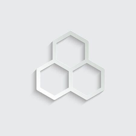 Honey icon. Cells Icon vector