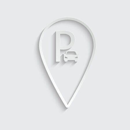 parking icon map pointer vector Vettoriali