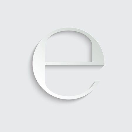 Estimated sign, E mark symbol