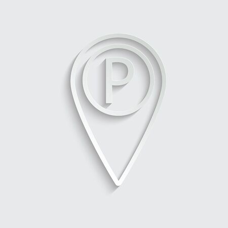 parking icon map pointer vector Imagens - 150231763