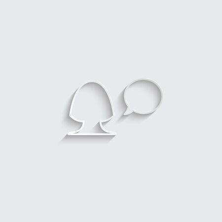 woman icon. female profile.  woman avatar. black vector symbol