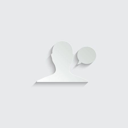 man icon. male profile.  man avatar.   black vector symbol