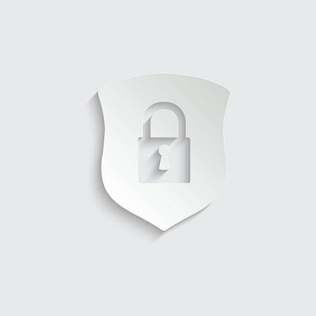 protect icon. secure  line style. Shield  icon Vettoriali
