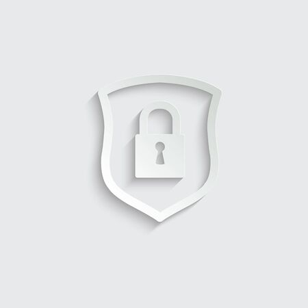 protect icon. secure  line style. Shield  icon Imagens - 150286308