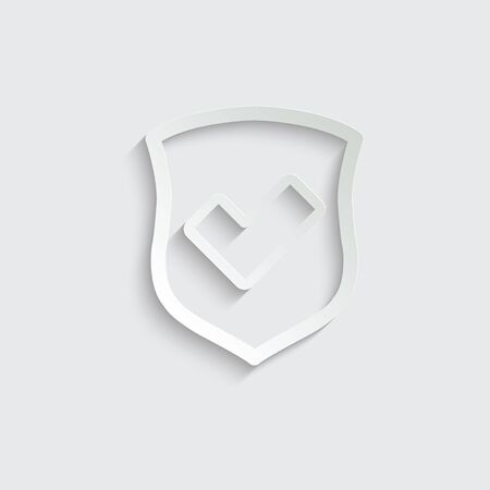 protect icon. secure  line style. Shield  icon Imagens - 150281826