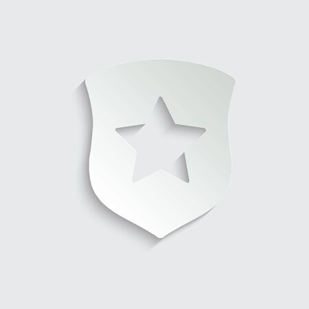 protect icon. secure  . Shield with  star icon sign vector Vettoriali