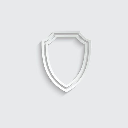 protect icon. secure  icon. Shield  sign vector Imagens - 150281845