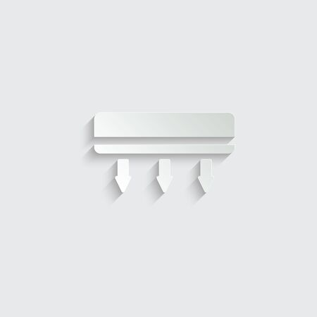 Conditioner vector icon. cooling the air conditioner works