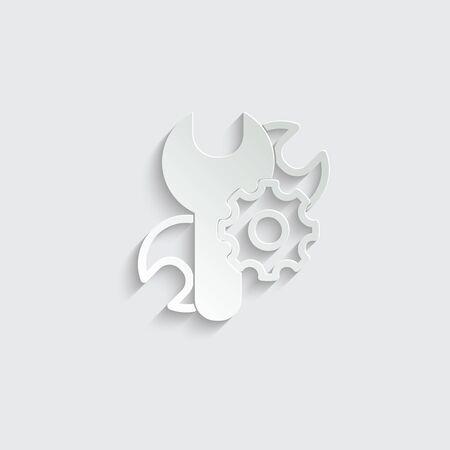 Repair Icon vector. settings icon vector Ilustração