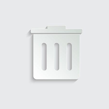 Trash bin   - vector icon Stockfoto - 150232569