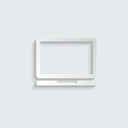 Laptop vector icon/ notebook vector icon.