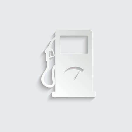 gas station sign  - black vector icon. symbol of gas station