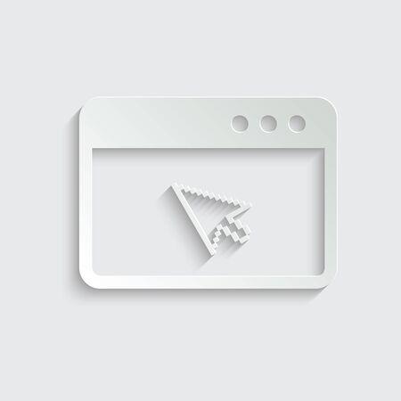 Browser icon, internet icon vector