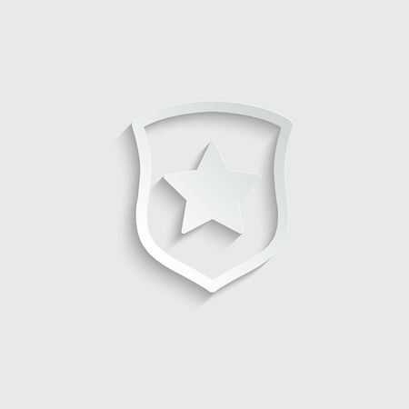 protect icon. secure  . Shield with  star icon sign vector Ilustração