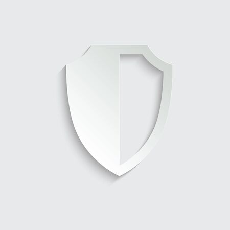 protect icon. secure  icon. Shield  sign vector Vettoriali
