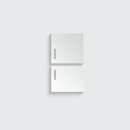 refrigerator icon vector Vettoriali