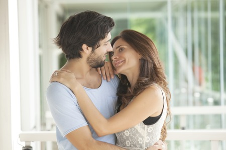 latin couple: Beautiful latin couple in love Stock Photo