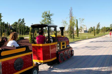 train ride inside the park Reklamní fotografie