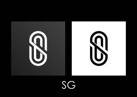 SG Initials Logo Design on isolated background