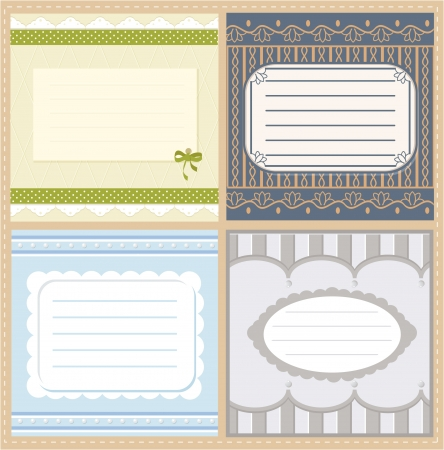 Set of vector card with free space for inscriptions Illustration