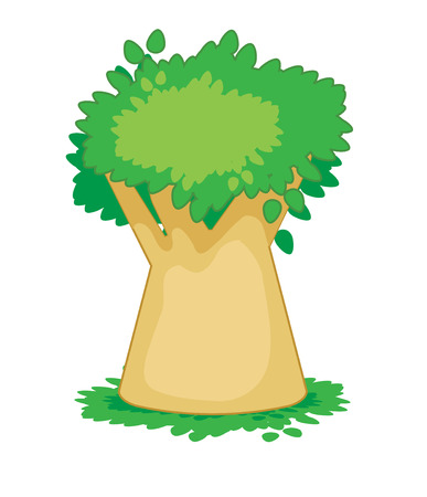 Vector drawing of a tree on a white background Illustration