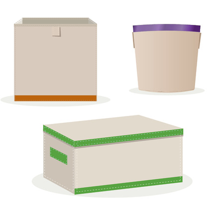 vector drawing boxes for storage