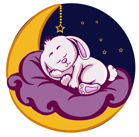 Vector drawing of childrens sleeping spot Vector