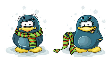 vector character of Penguin in the two positions