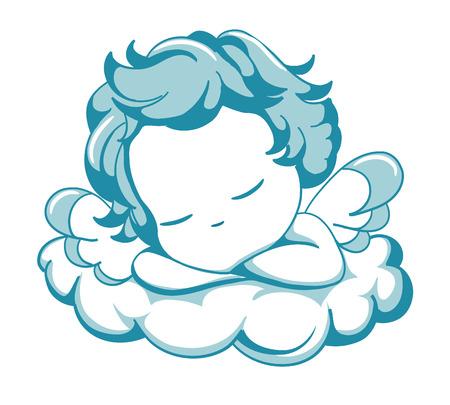벡터 푸른 날개 달린 천사 자