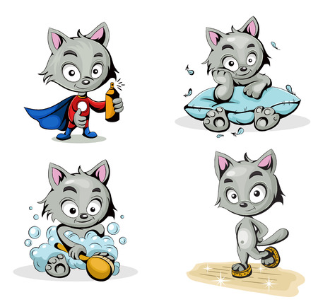 Illustration  characters cleaners Illustration